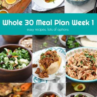 This Whole 30 Meal Plan Week 1 provides easy recipes with lots of options for anyone that loves eating real food! cookingwithcurls.com