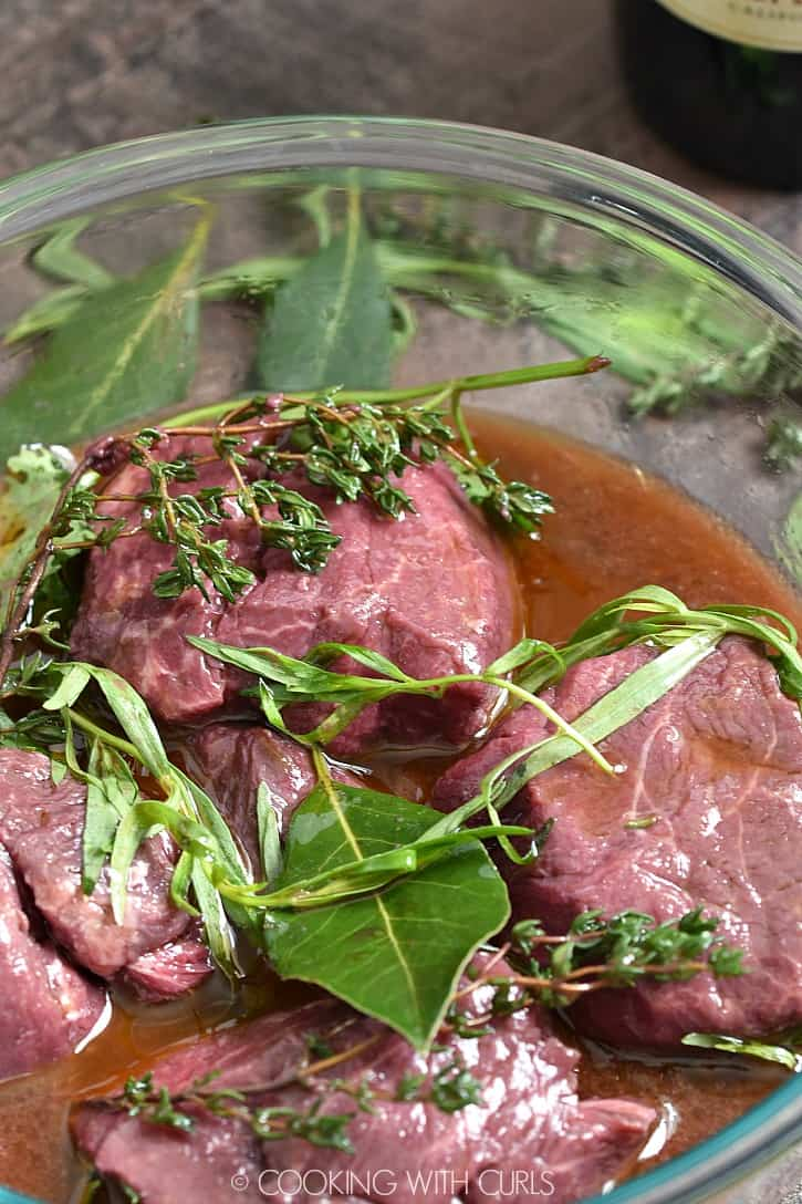 This simple Beef Marinade recipe adds an incredible amount of flavor to any cut of beef, especially tenderloin! cookingwithcurls.com