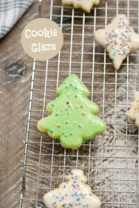 This super simple Cookie Glaze is perfect way to decorate your cookies any time of year! cookingwithcurls.com