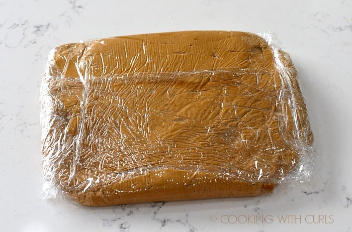 Wrap cookie dough in plastic wrap and chill cookingwithcurls.com