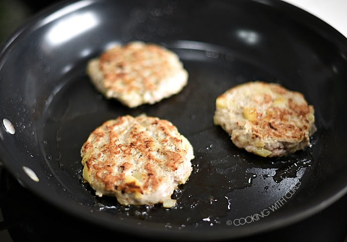 Cook the sausage patties in a non-stick skillet cookingwithcurls.com