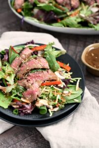 This Asian Steak Salad is easy to prepare, is loaded with flavor and lots of healthy vegetables! cookingwithcurls.com