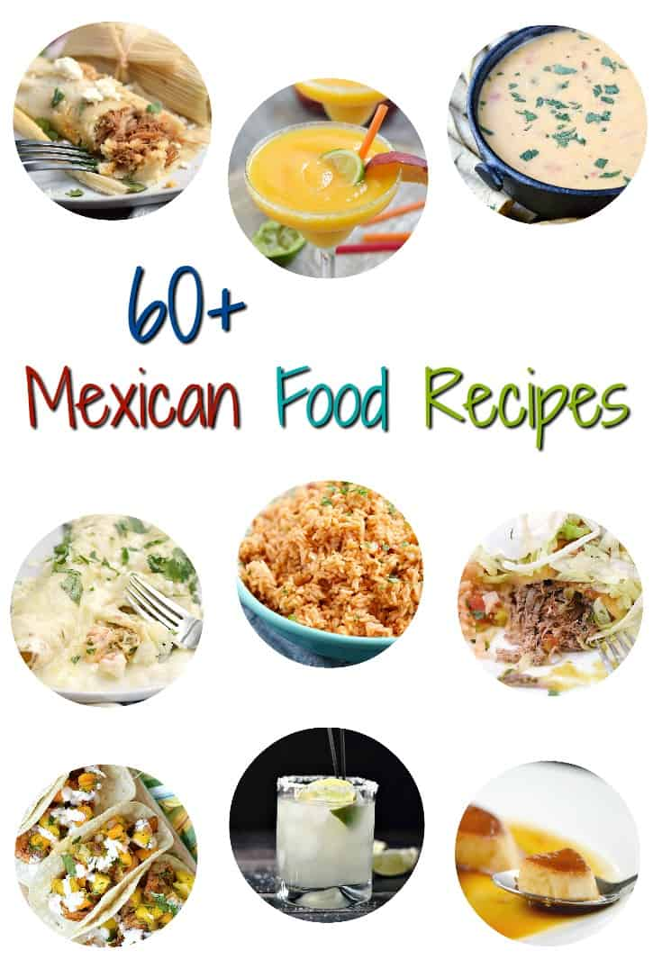 a collage featuring nine images of mexican food recipes