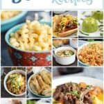 A collage for 30 Instant Pot Recipes that features 10 different food images