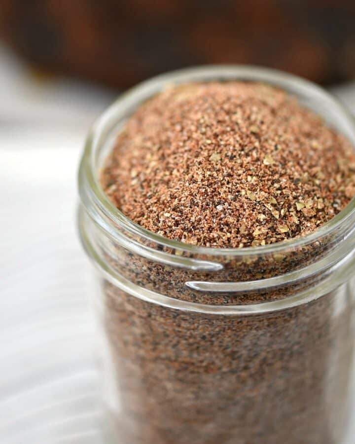 A close up image of Cowboy Seasoning Rub for steak.