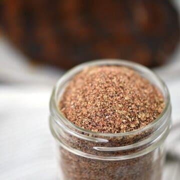 A close up image of Cowboy Seasoning Rub for steak.