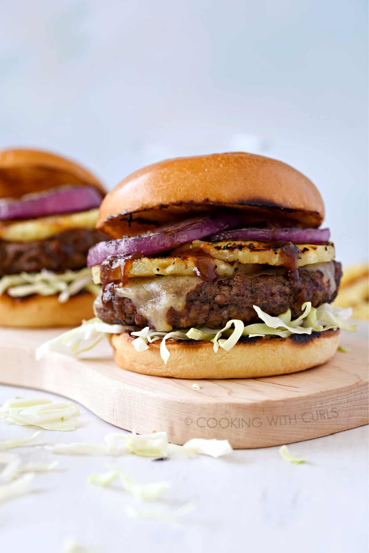Grilled Hawaiian Teriyaki Burgers Cooking With Curls