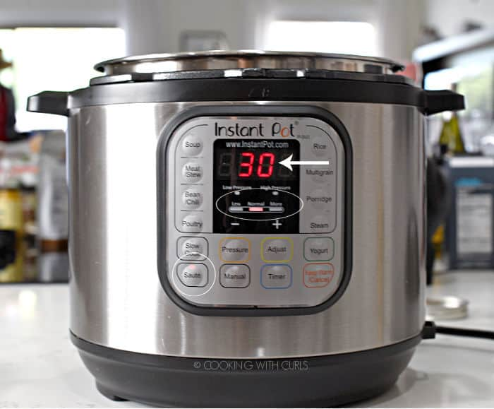 Instant Pot set on Saute, Normal for 30 minutes. cookingwithcurls.com