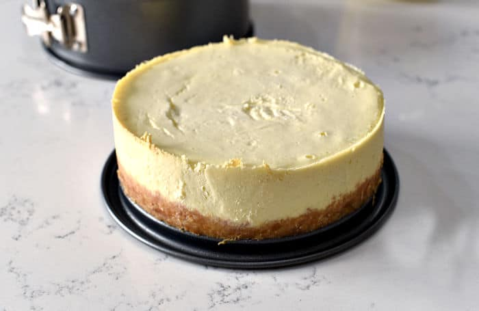 6-inch Instant Pot Lemon Cheesecake.