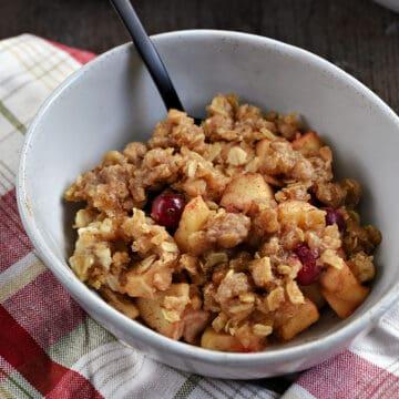 Instant Pot Apple Cranberry Crisp recipe.